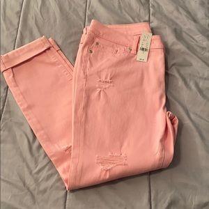 Pastel Pink boyfriend jeans